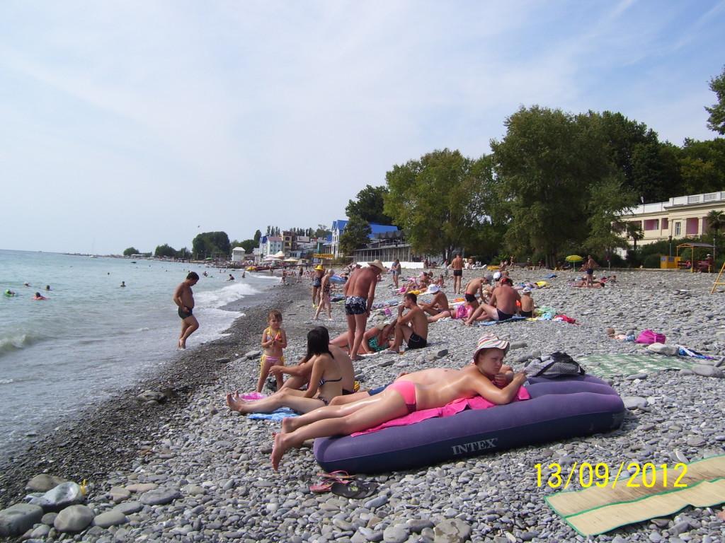 Пляж санаторий Лазаревское