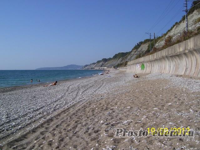 Дикий пляж в Шепси