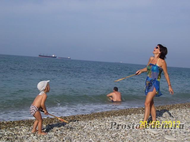 с ребенком на черном море