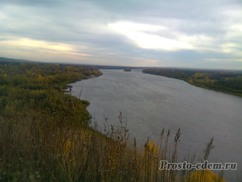 Белая река осень