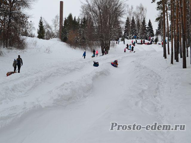 Тюбинги Парк Победы Уфа