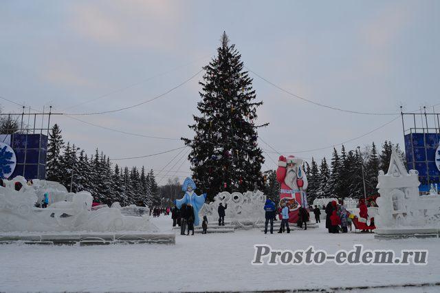елка на площади Ленина