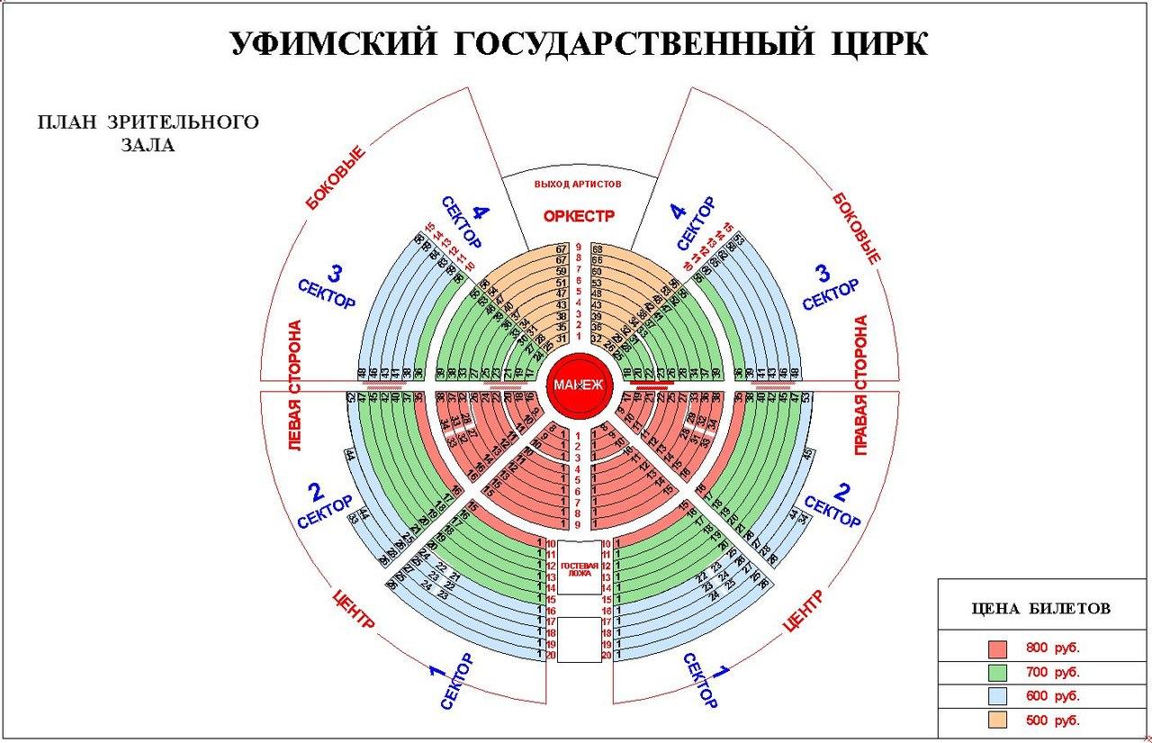 Цирк в курске схема мест