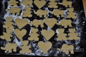 песочное печенье на противне