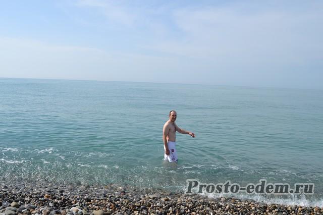 дикий пляж Адлера