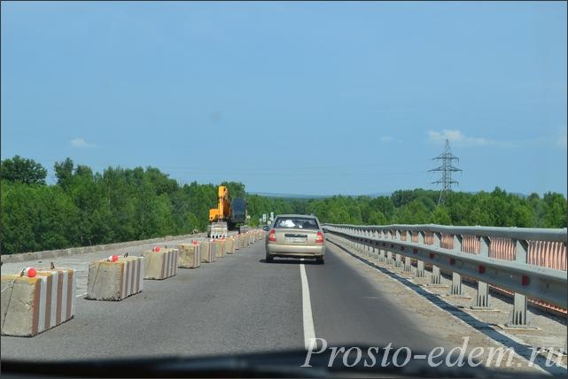 Ремонт моста через Белую