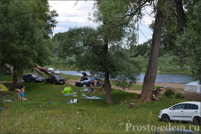 Отдых с палатками на Симе