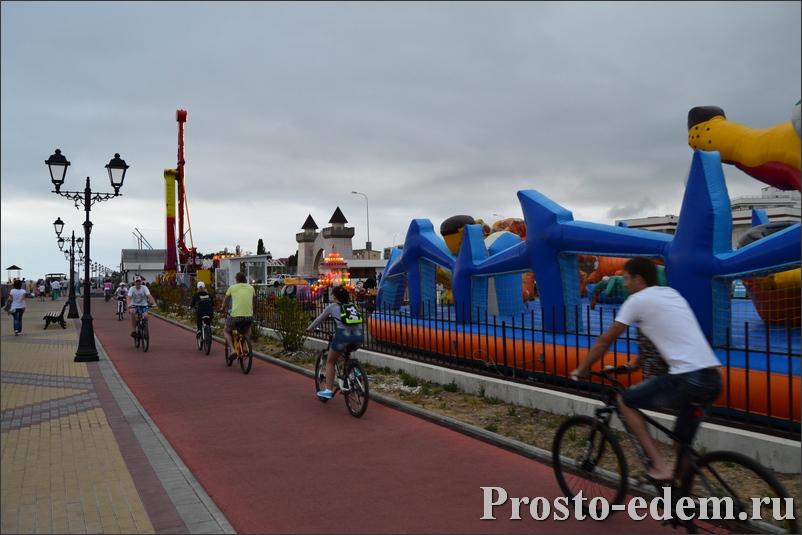 Велосипедная дорожка в Адлере