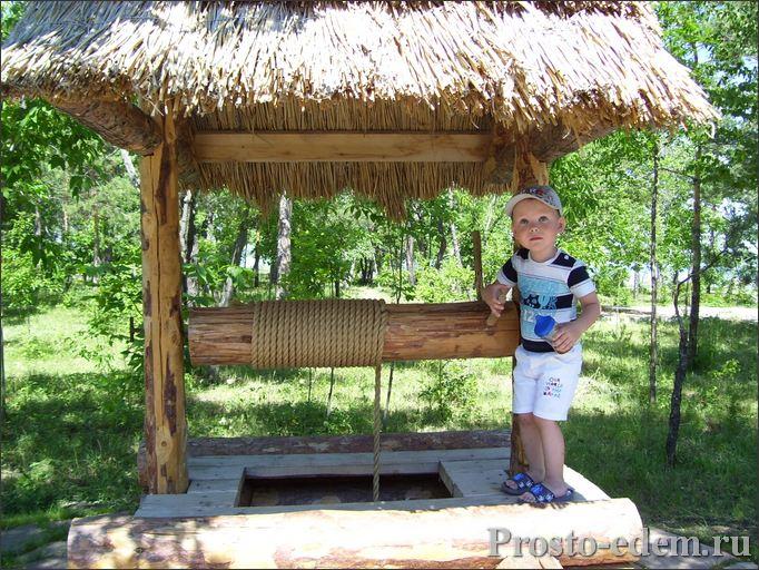 старинный колодец в парке