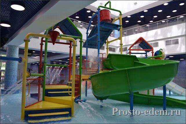Детская зона в аквапарке галактика в Красной Поляне
