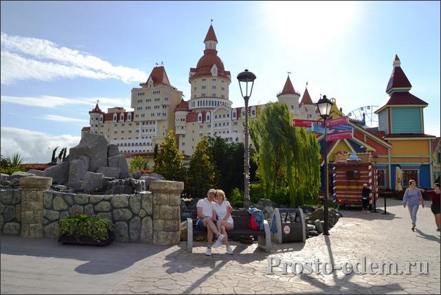 Вид на отель Богатырь