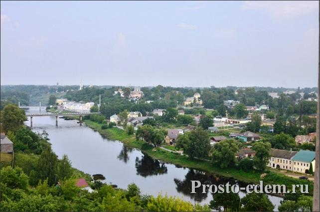 Река Тверца в Торжке