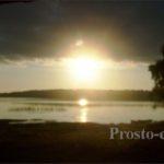 Закат в Кенозерье в нацпарке
