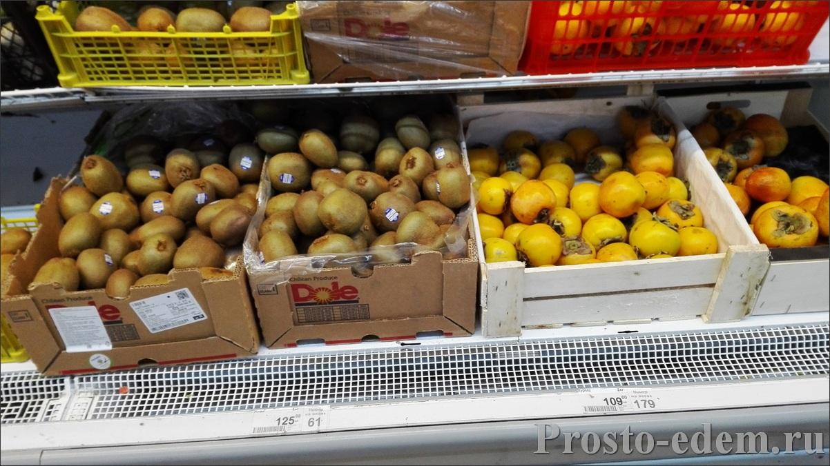 Цены на фрукты в Красной Поляне