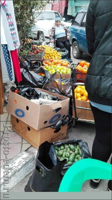 Рынок около Абхазии