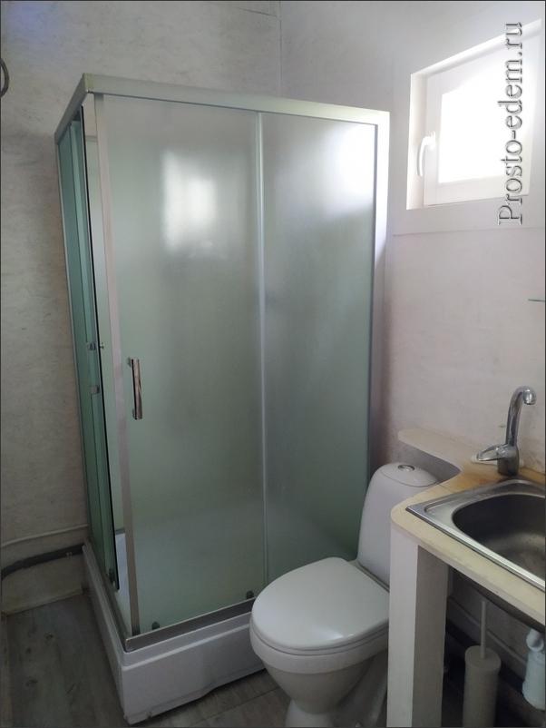 душ и туалет на турбазе
