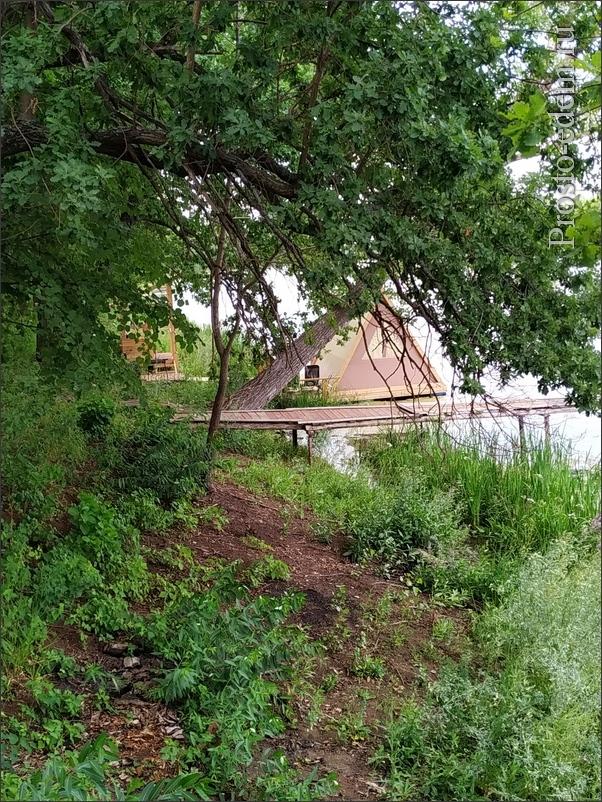 Дом на воде. Рядом тоже есть мостик
